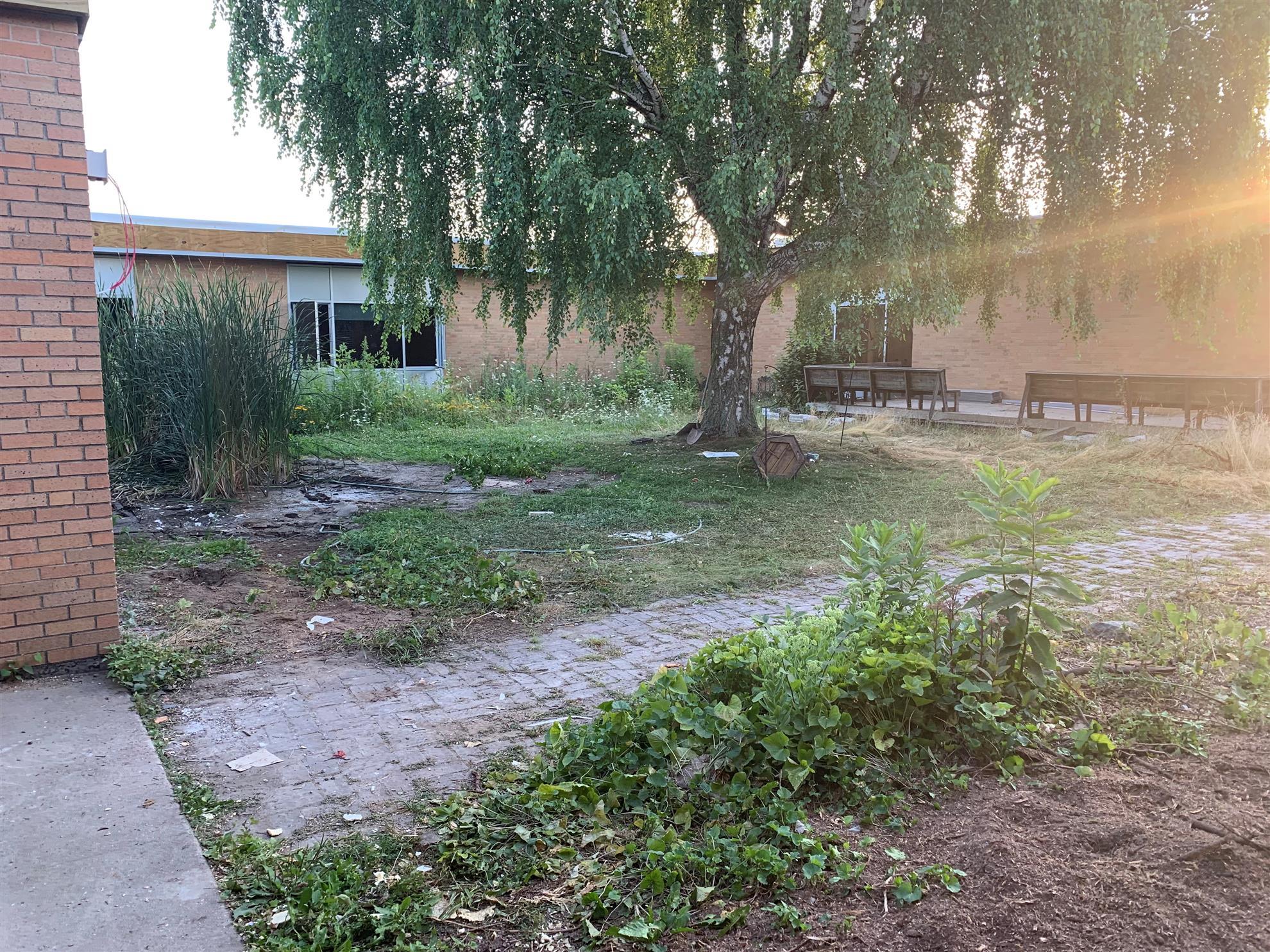 Zinzer School before Clean Up