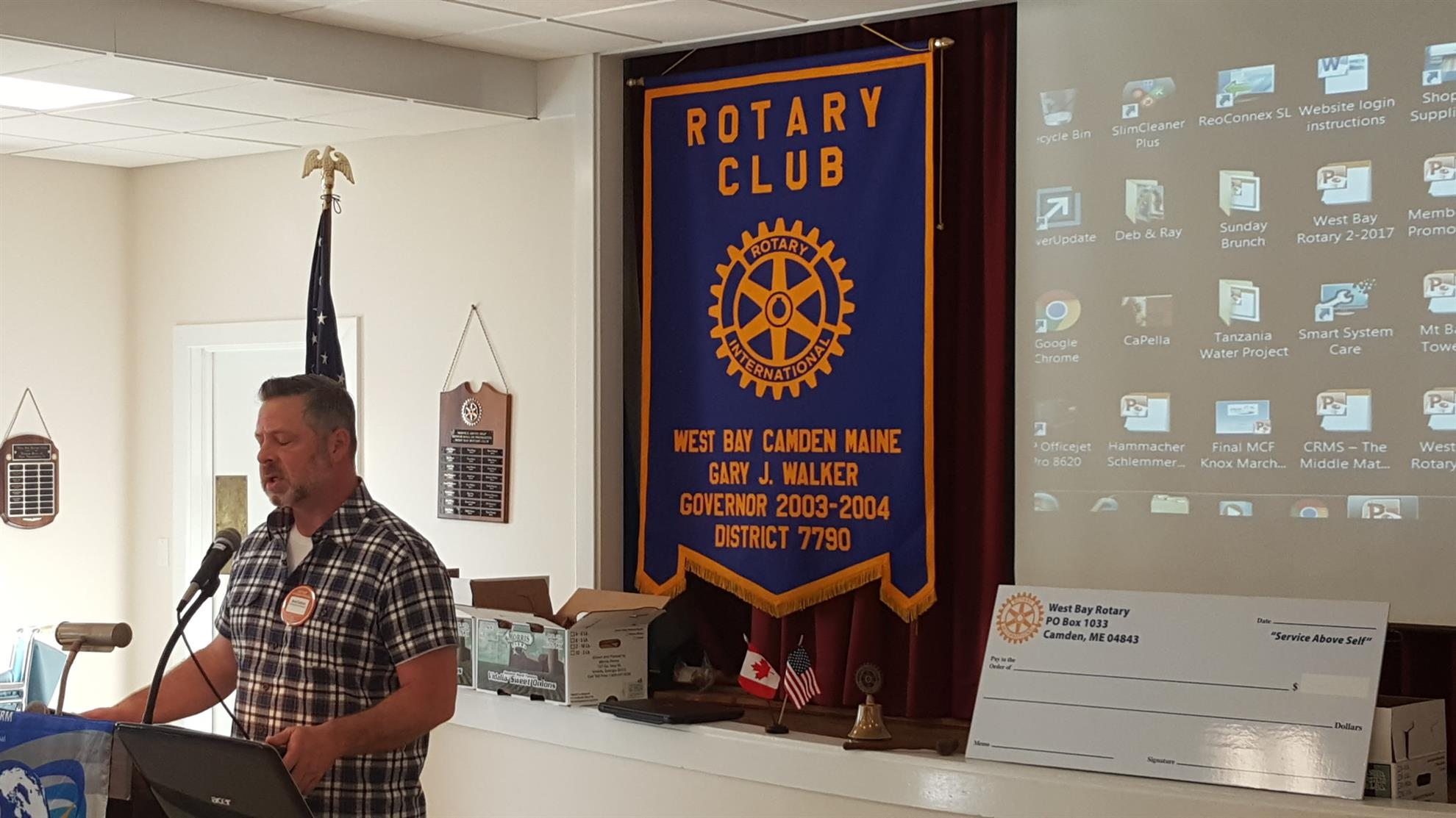 Joined West Bay Rotary recently – was a Rotarian in the late 90's in  Rockland