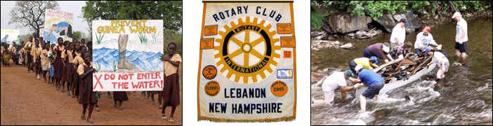 Water Cleanup Images, Ghana Water Project, and Rotary Banner
