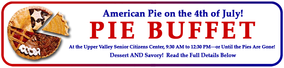 Rotary July 4th Pie Sale Banner