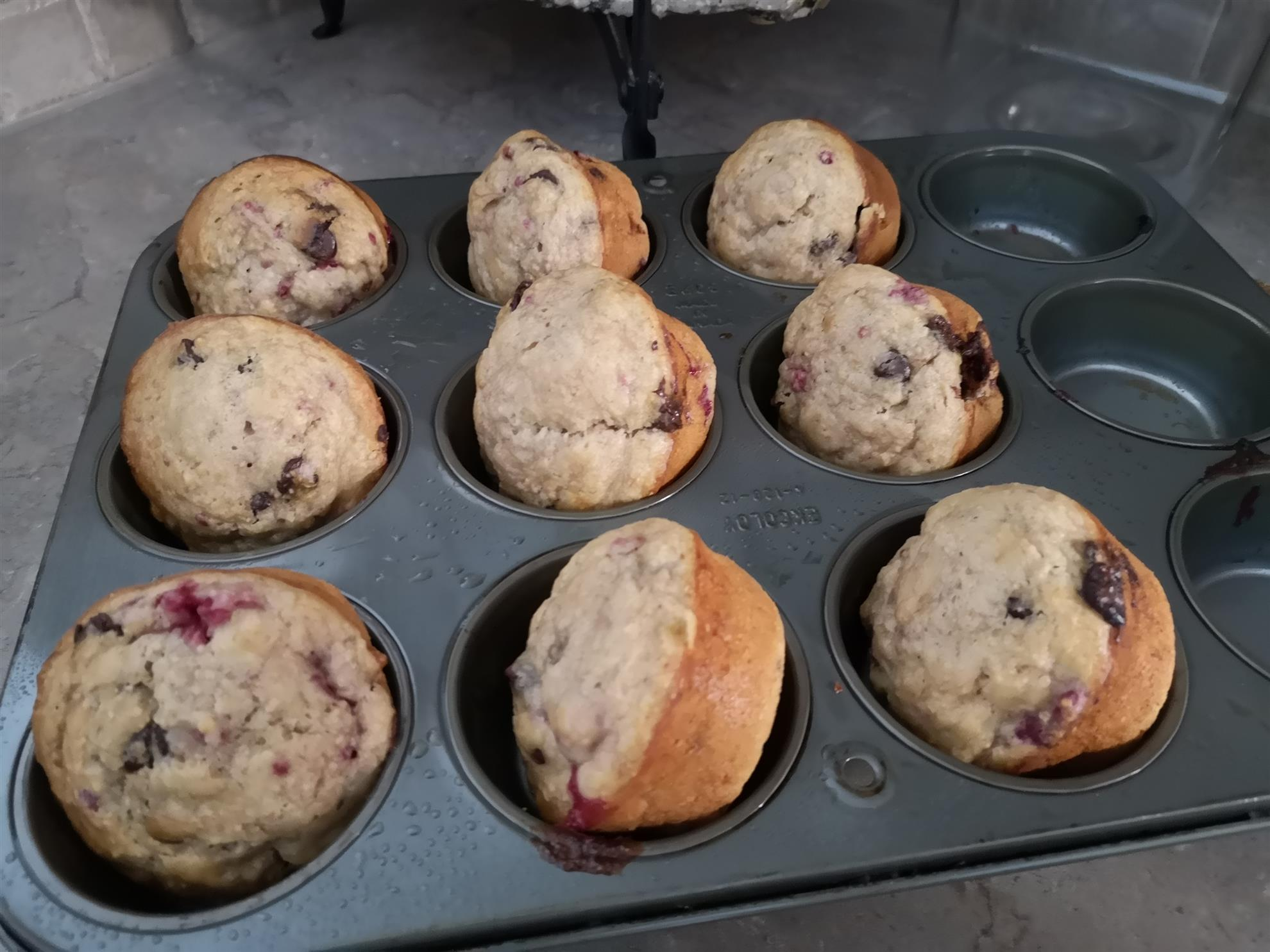 A pan of muffins.