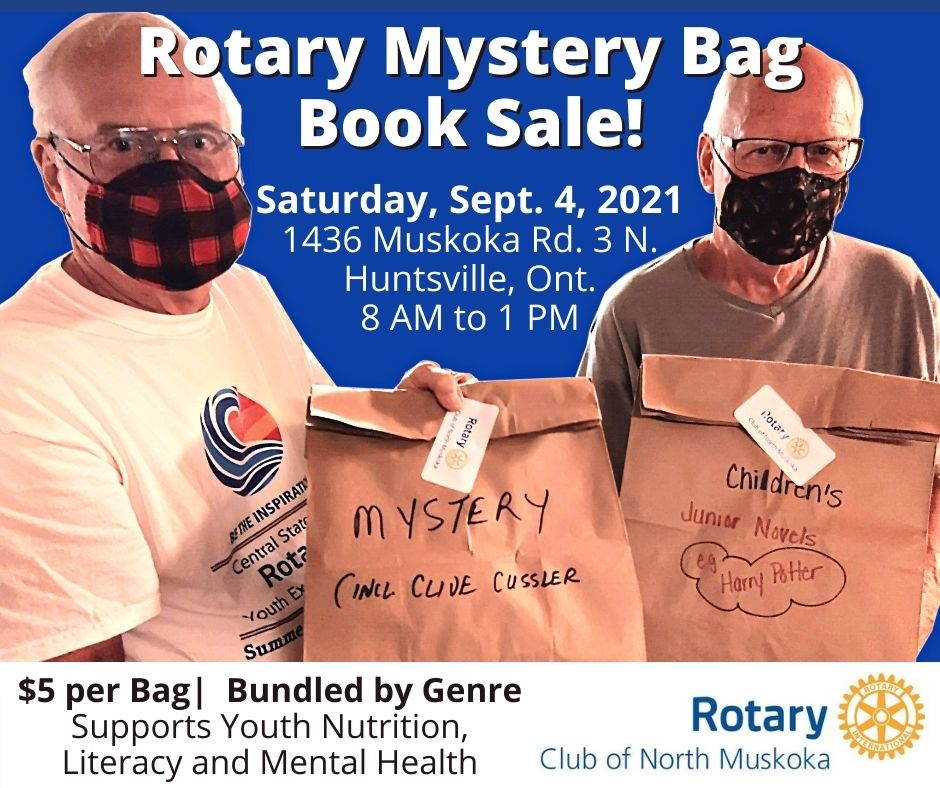 Rotary Mystery Bag Book Sale Poster