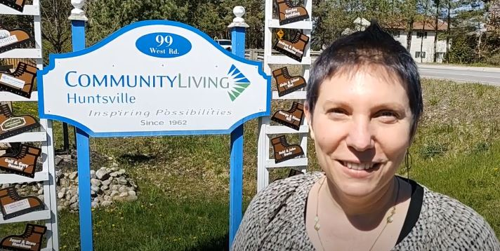 Suzanne Willett outside Community Living Huntsville