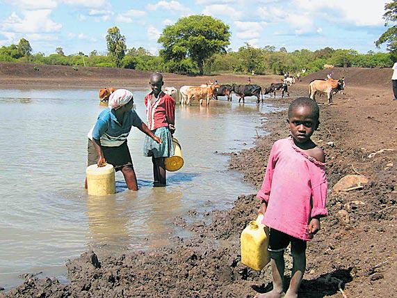 Kenya Water Containers People Animals