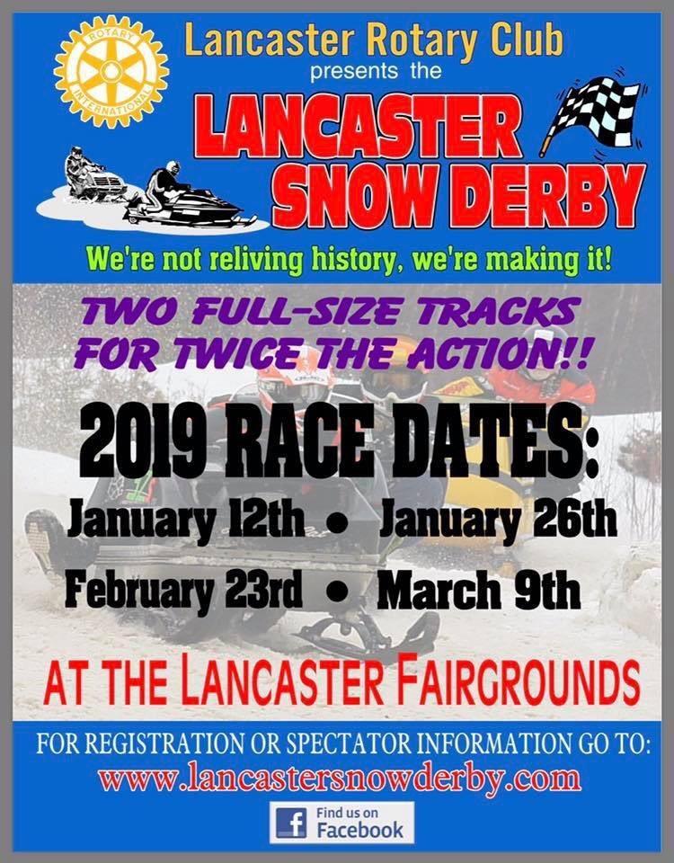 Lancaster Snow Derby Poster