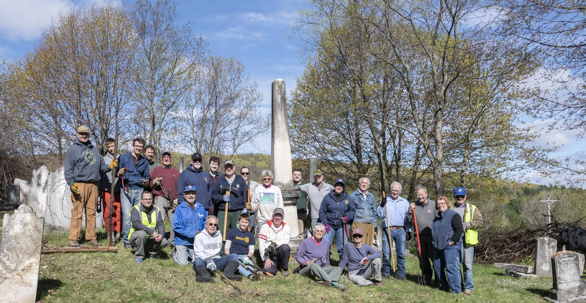 We cleaned up the old cemetery! | Rotary Club of Middlebury