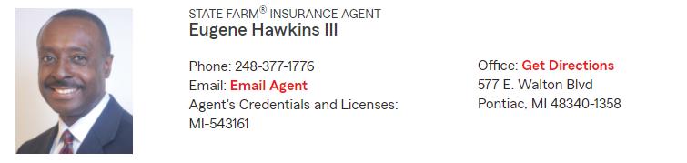 State Farm Insurance Agent Eugene Hawkins III