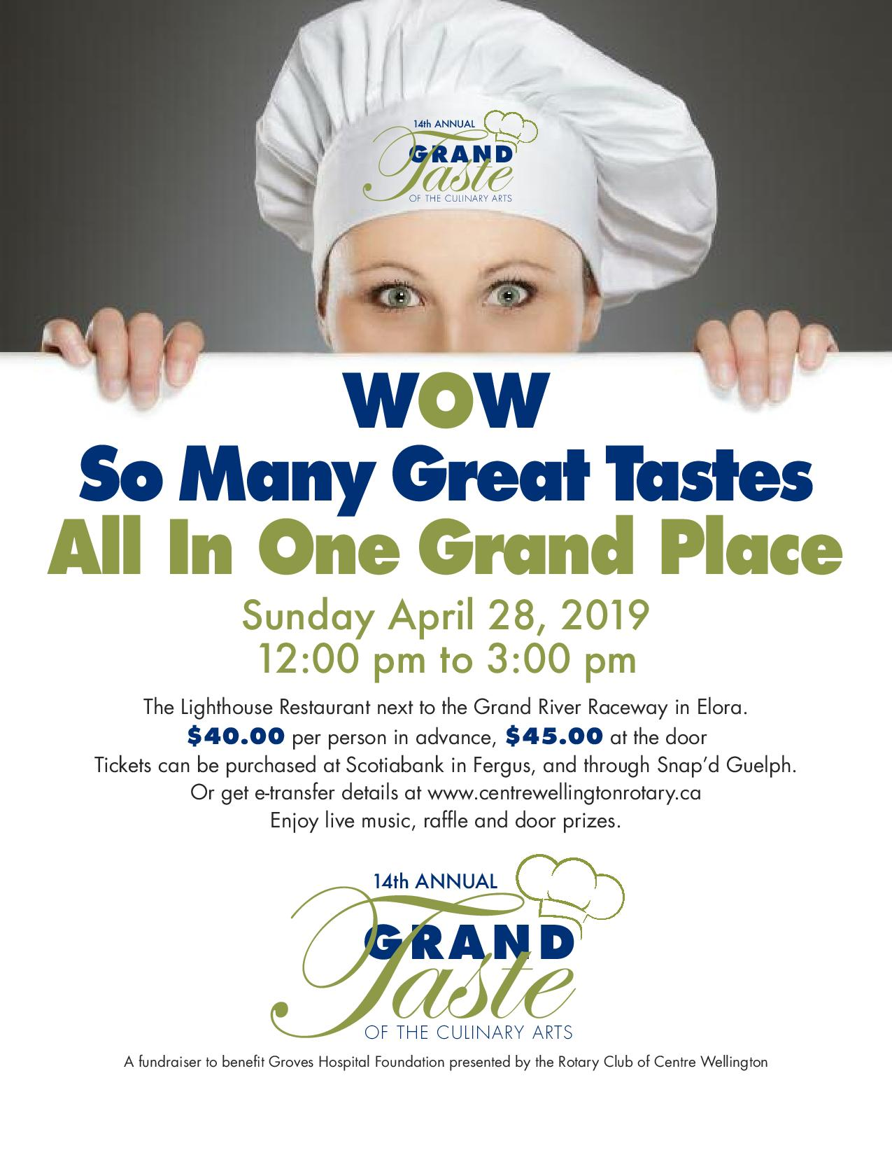 Grand Taste of the Culinary Arts 2019   Rotary Club of