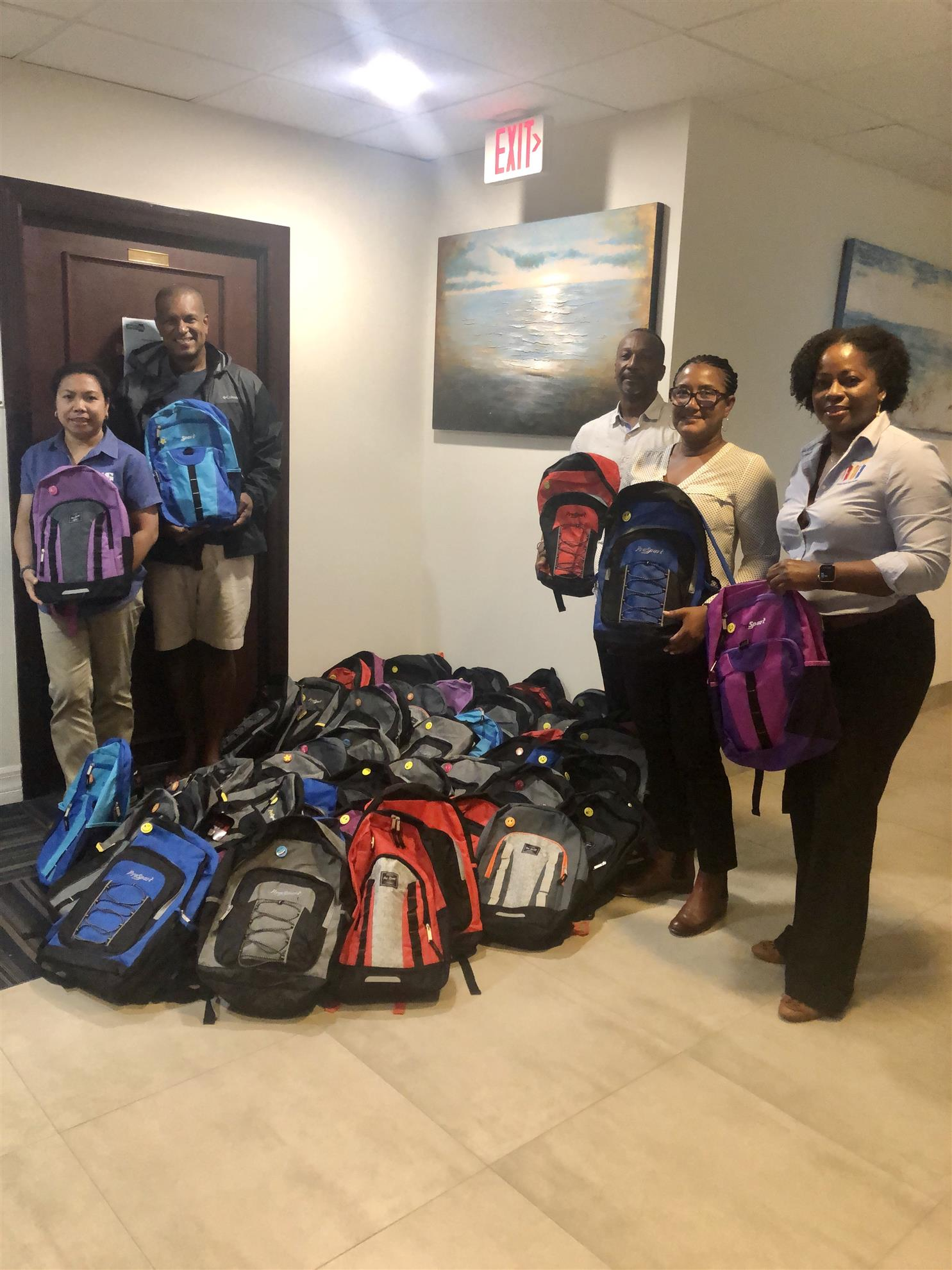 Image of Backpack Project Donation to DCFS