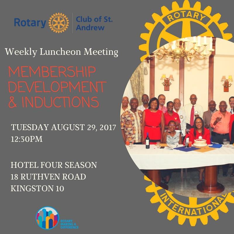 Weekly Luncheon Meeting - Membership Development & Inductions