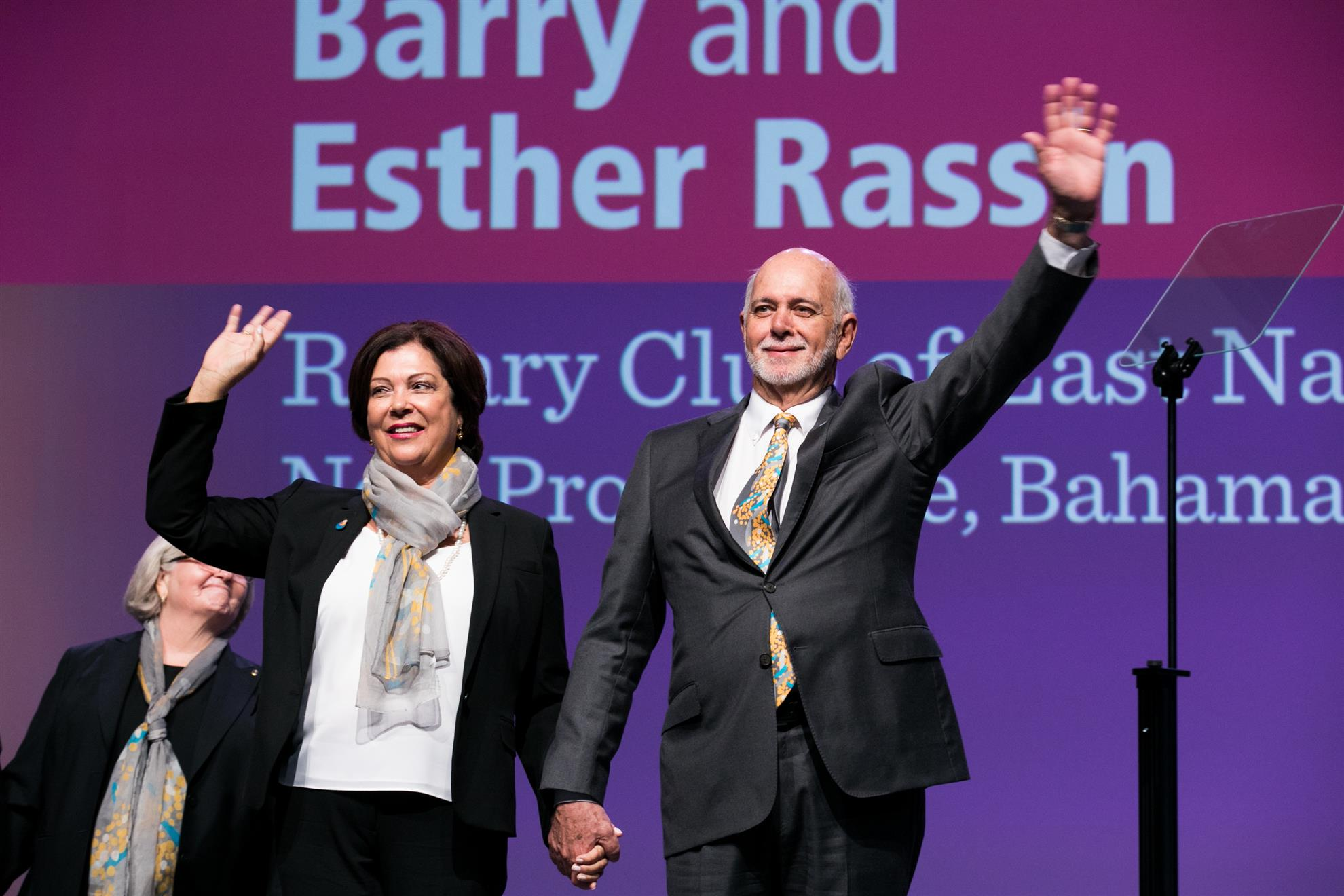 Rotary Club of East Nassau, Home Club of Rotary International President, Barry Rassin 2018 - 2019 and his Partner, Esther Rassin.