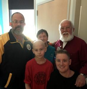 Bobby-Dad, Stephen, Carol-Grandma, Connor-Milt's grandson, Rotarian Milt