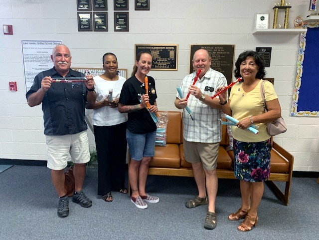 Music Recorders delivered to Smoketree Elementary School, Lake Havasu City AZ via $600 matching grant from Rotary District # 5495.