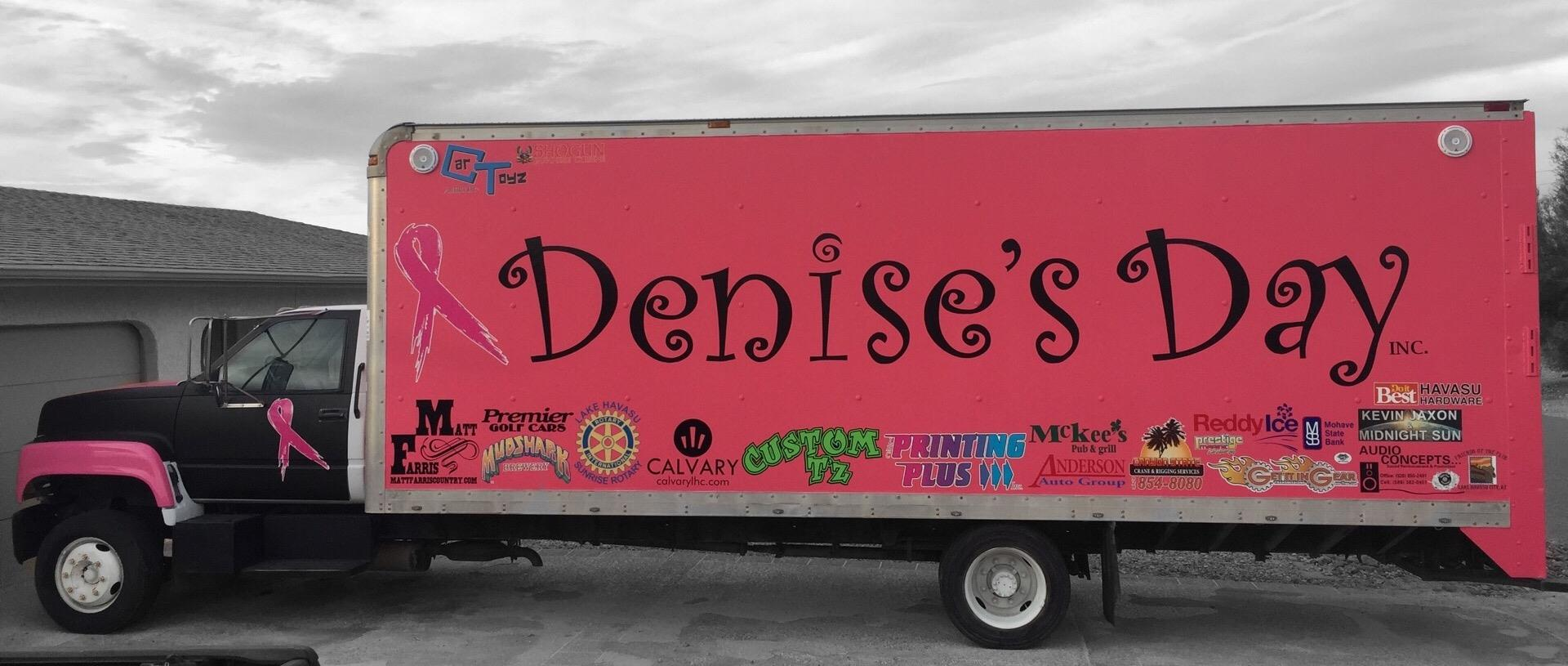 denise s day group s sunrise rotary lake havasu city many hours of refurbishing and great donations and a fantastic pink pain job their truck can be seen at local events and driving around the community