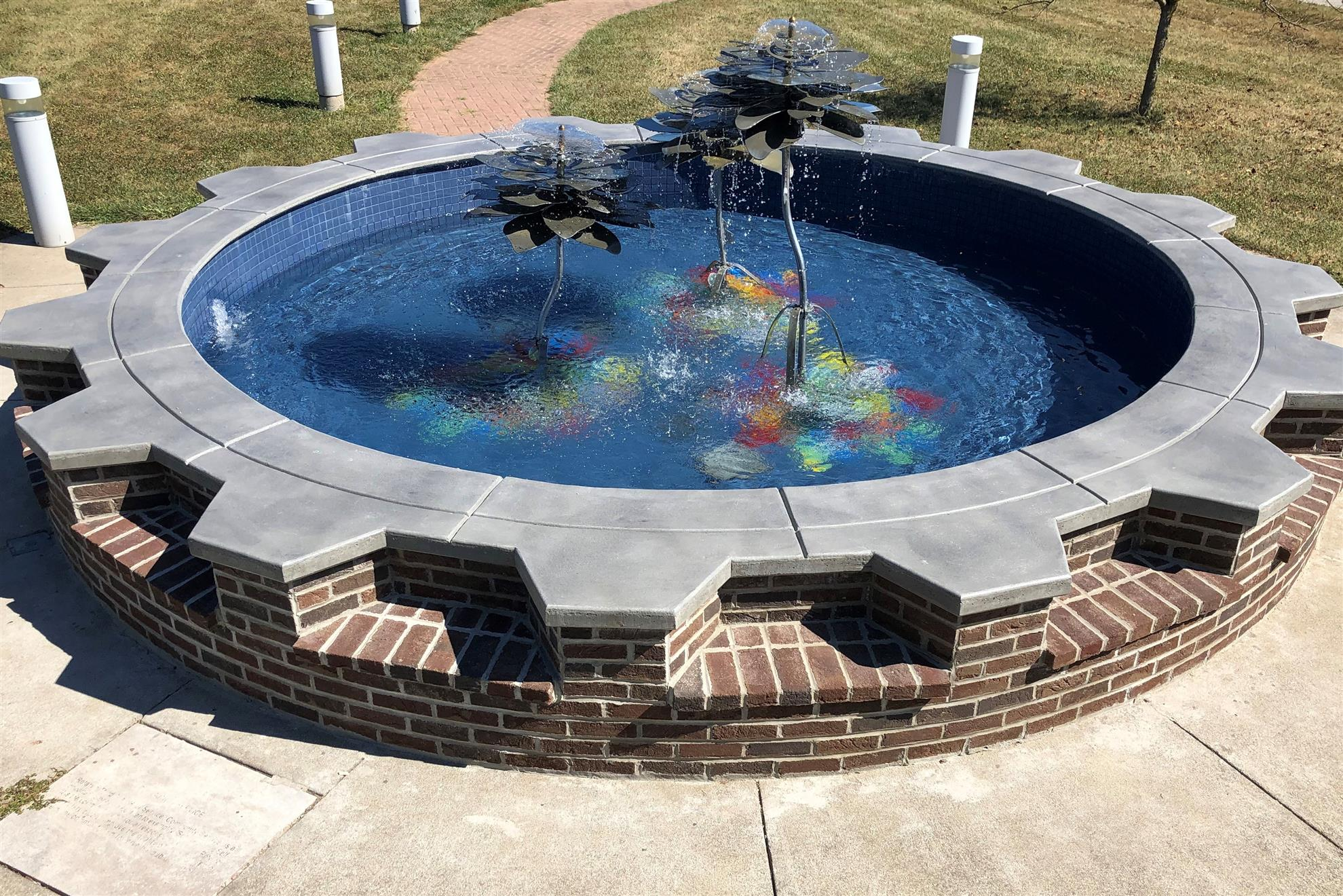 Fountain at Community Ctr.