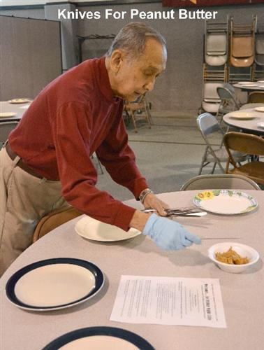 Harry assisting at Friday Night Life Dinner with Good Works Feb 21, 2014