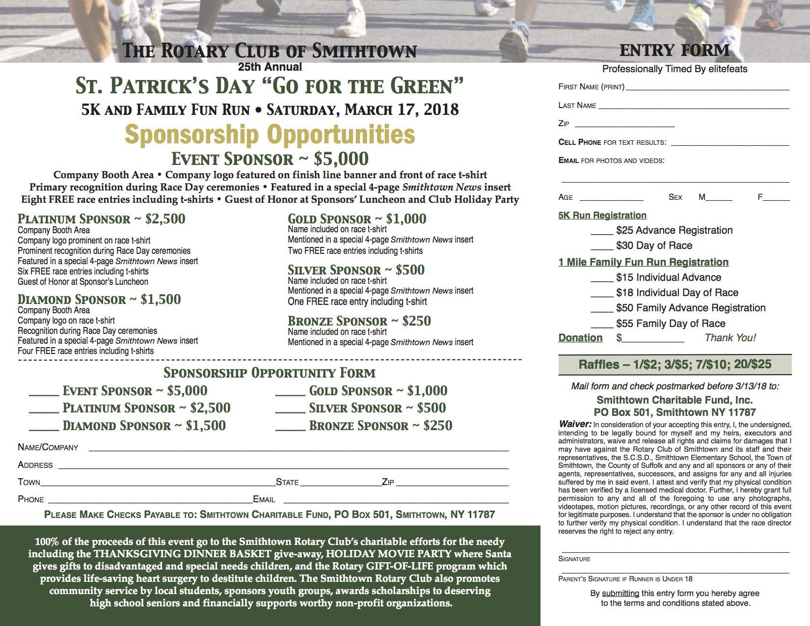 5k run registration form rotary club of smithtown