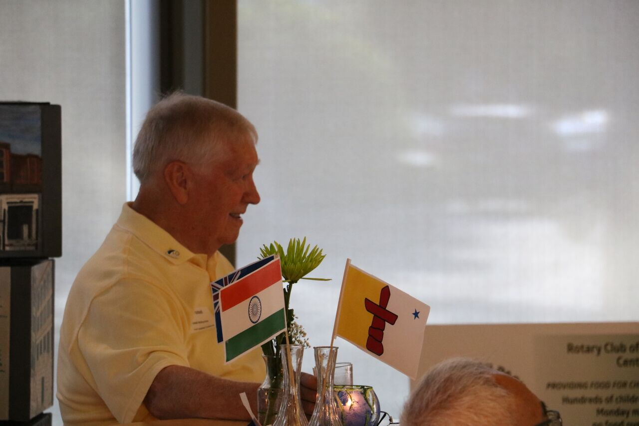 India-Nunavut flags and Russ McMurchie