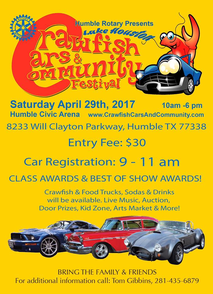 crawfish cars community festival enter your car or come see some beautiful cars april 29th