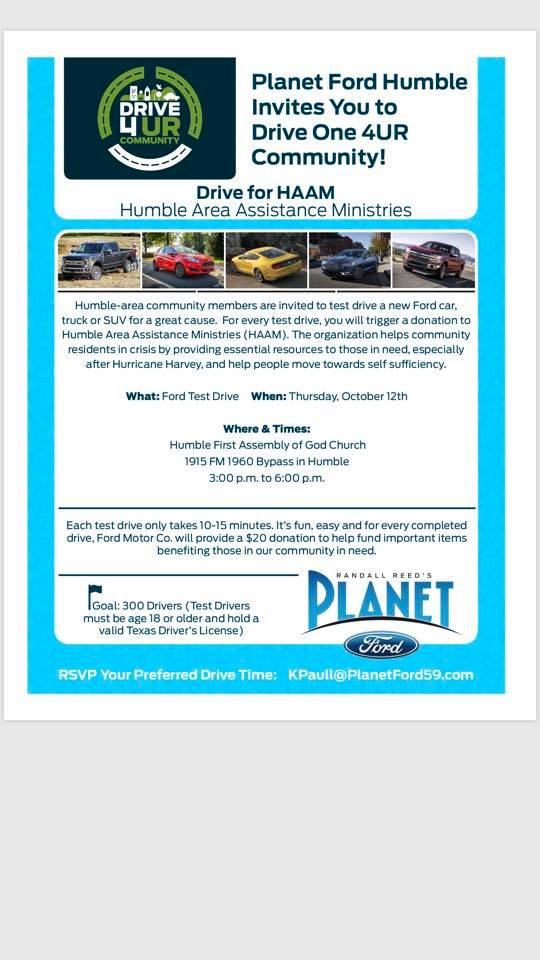Planet Ford 59 >> Rotarians Supporting Humble Area Assistance Ministries At Planet