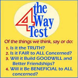 four way test essay ideas Four-way test contest participant guidebook 2013 district 7780 page 3 contest topics 2012-2013 students must choose a topic from the following list however, your.