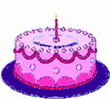 BD2 (Pink Cake - 1 Candle)A