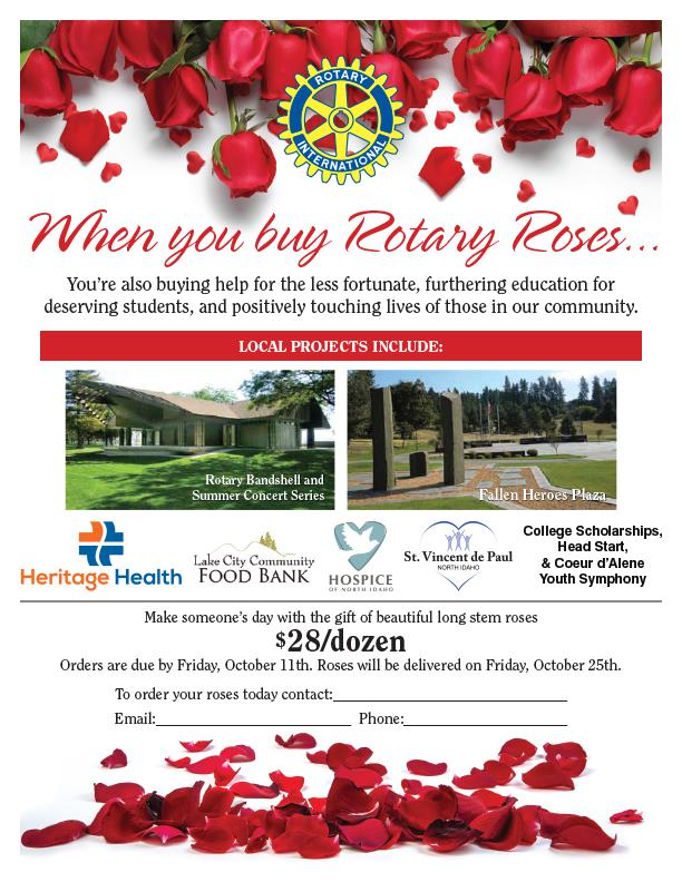CDA Rotary Rose Sale Flyer