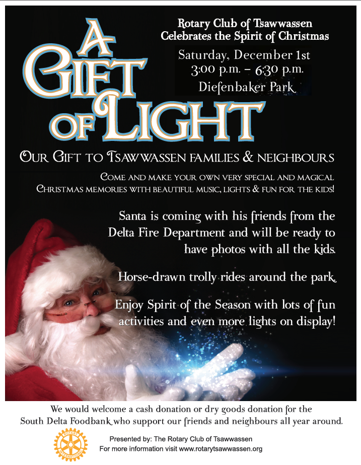 1f337b84ecb It s that time of the year again! The Rotary Club of Tsawwassen s annual  GIFT OF LIGHT at Diefenbaker park. We have over 25