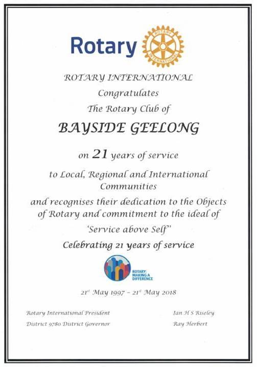Stories   Rotary Club of Bayside Geelong