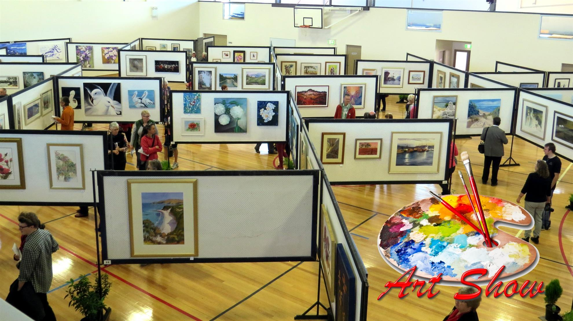 Art Display Boards In Use
