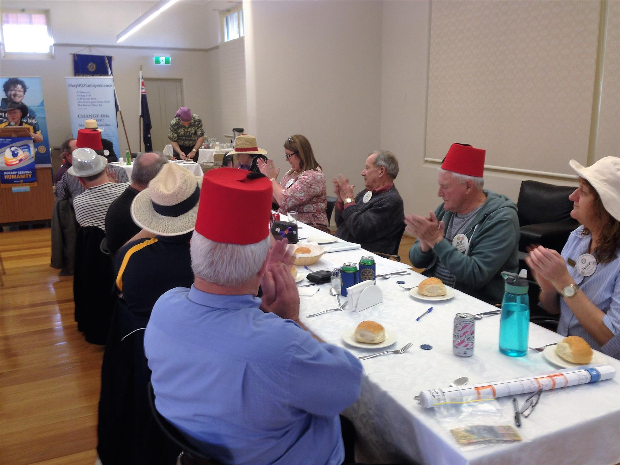 Members Wear Hats to Celebrate ARH Hat Day | Rotary Club of Maryborough