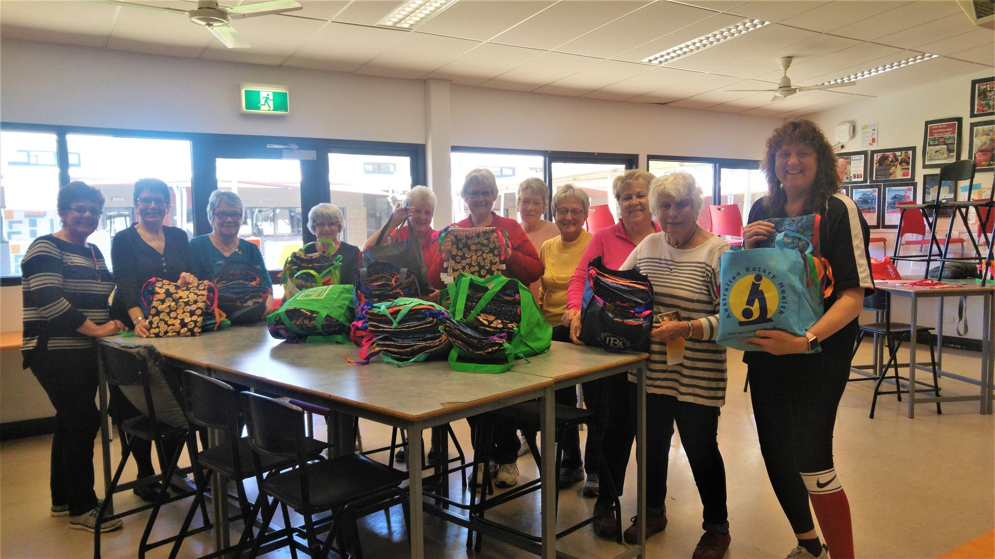 Stories Rotary Club Of Maryborough If You Run Out Room On The Starter Relay Quotbquot Post Install A Power Dozen Ladies From Zonta And Red Cross Worked With Margaret Cunningham To Produce 100 Kits For Days Girls Program Last Saturday