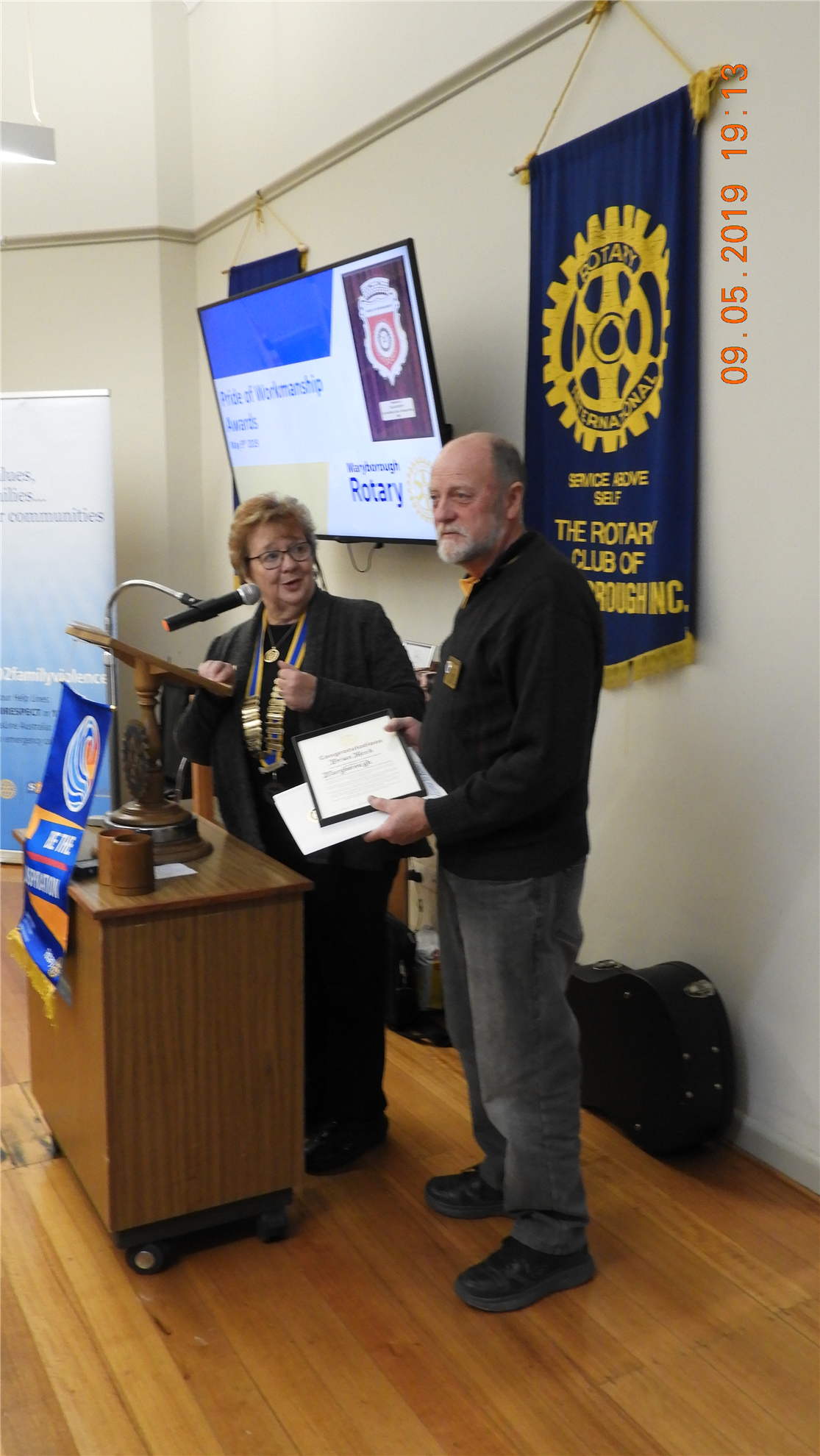 c9744aacebe3 PP Brian Reed was inducted by President Meryl as our newest member last  Thursday. Brian