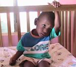 Javaughn at New Hope Orphanage in Jamaica.