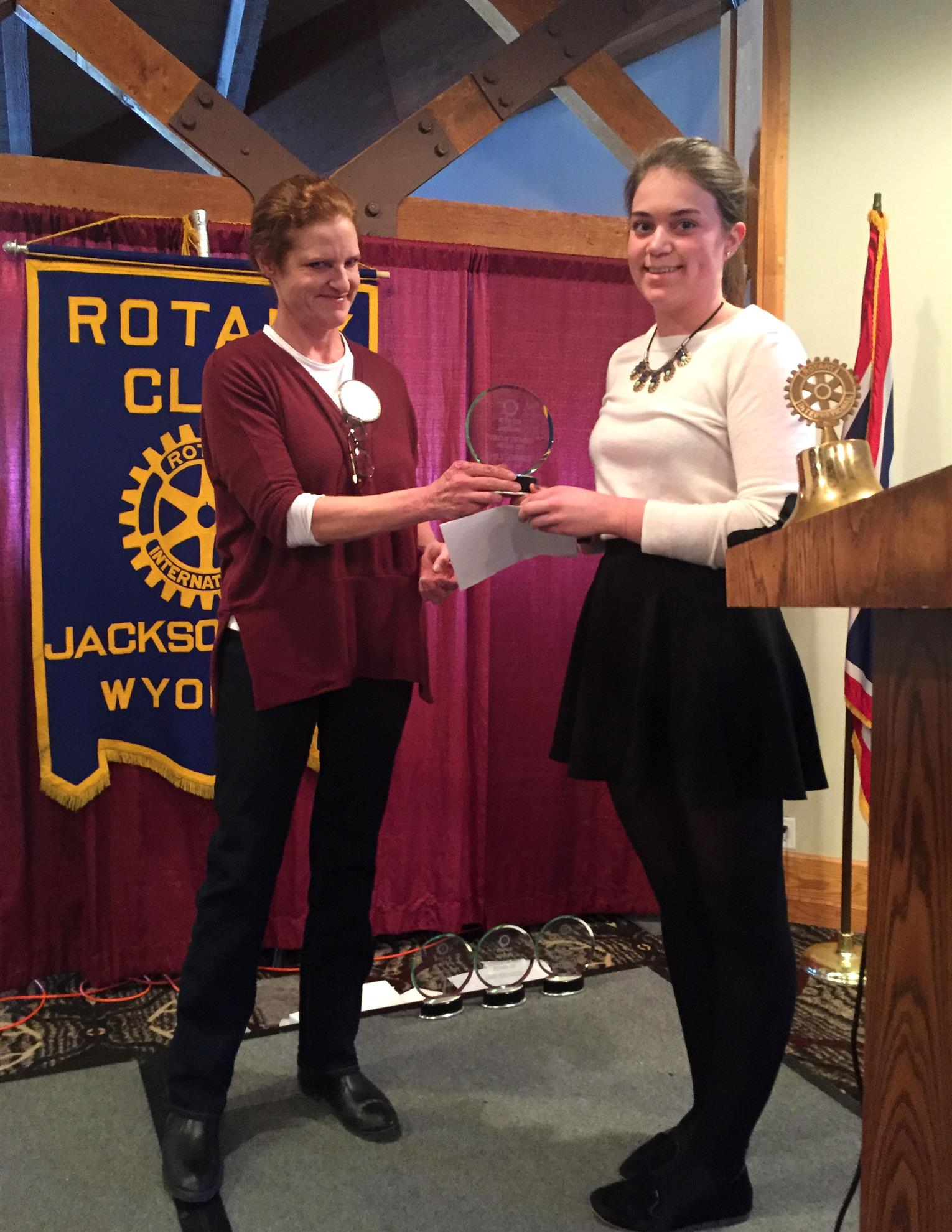 Jackson Hole High School Student of the Month; January 2016; Emily Jennings