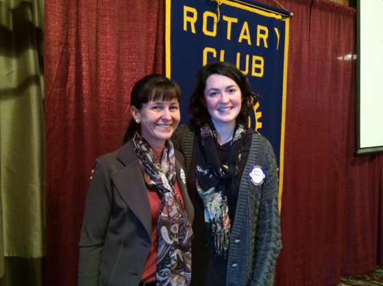 Head of School Nancy Lang and Outstanding Student Kenzie Reed, from Journeys School