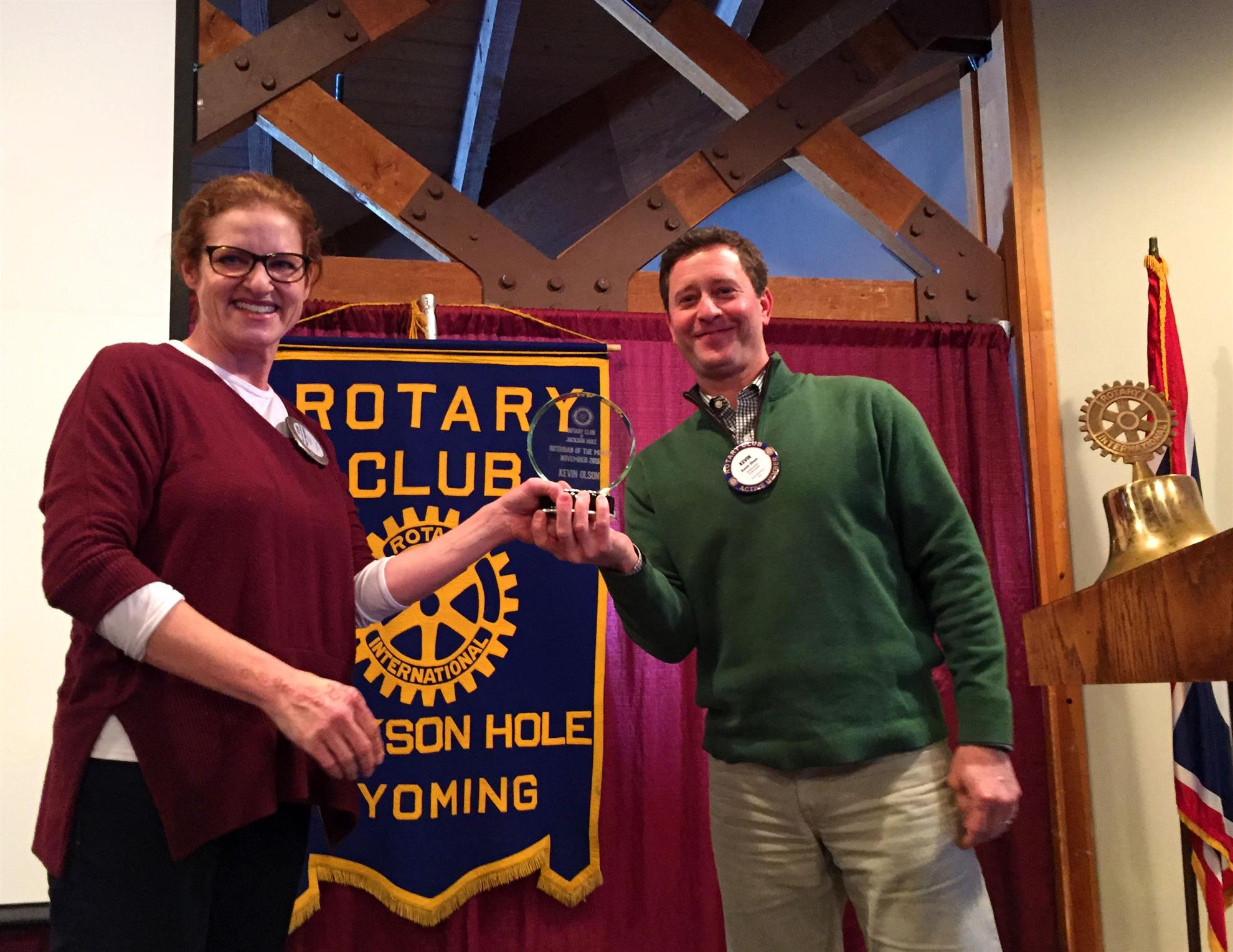 Rotarian of the Month for September – Kevin Olson