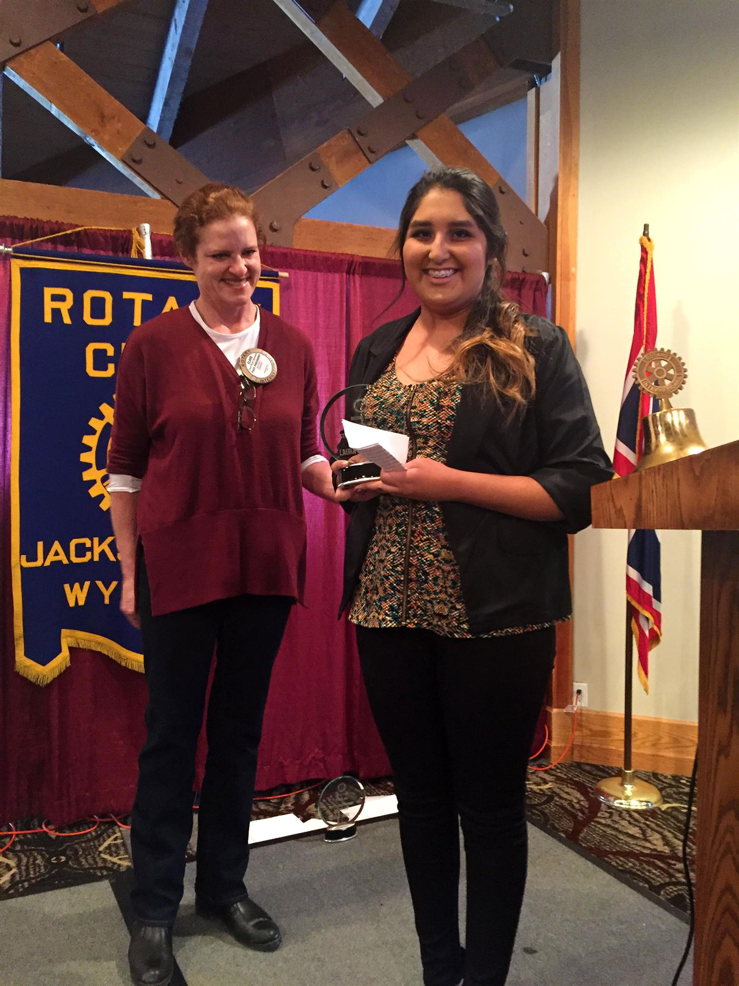 Jackson Hole High School Student of the Month; December 2015; Laura Perez-Garcia