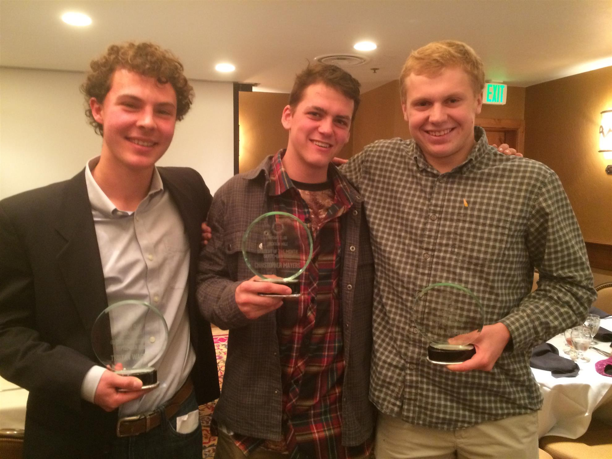 Outstanding Students (from l-r): Tristan Wagner, Chris Mayers and Ryan Johnston