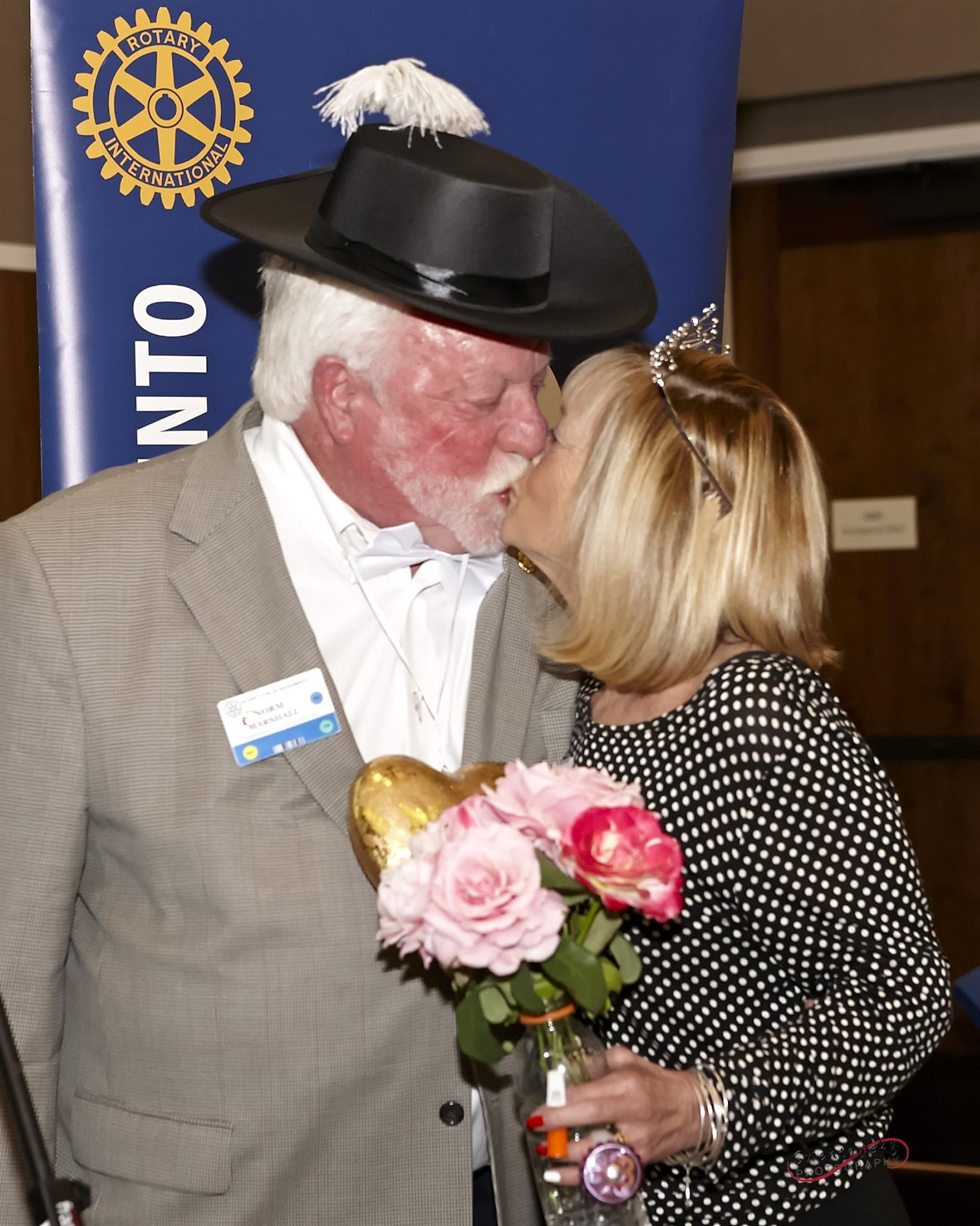 609d1e67fd862f To make it Rotary-official, Past President Dan McVeigh (Downey Brand, LLP)  presided over an impromptu ceremony with the happy couple and pronounced  them ...
