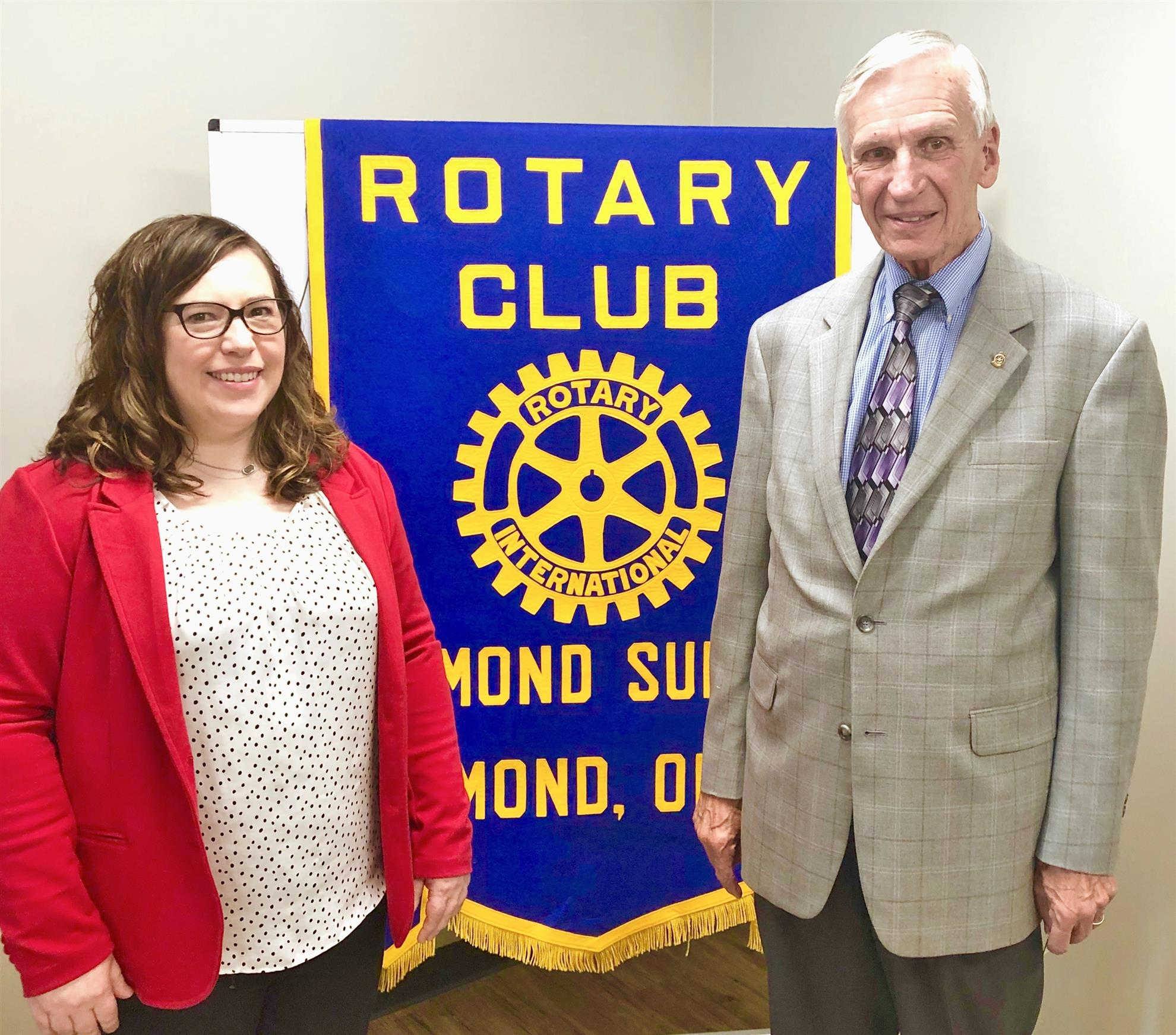 ddaafdd1b5b8 Our speaker at the JUNE 11TH meeting was Andrea Stone, pictured at left  with Rotarian of the day, Roland Herwig. Andrea is a spokesman for Moms  Demand ...