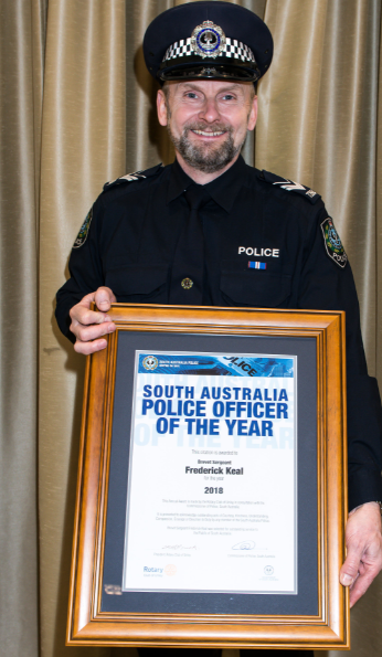 SA Police Officer of the Year 2018 Brevet Sergeant Fred Keal