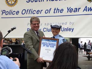 South Australia Police Officers of the Year 2009 Senior Constable Michelle Hollis