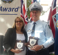 South Australia Police Officers of the Year 2010 Senior Constable Monique Anderson and Senior Constable First Class Ian Skewes