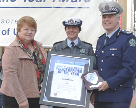 South Australia Police Officer of the Year 2012 Sergeant Caroline Bristow
