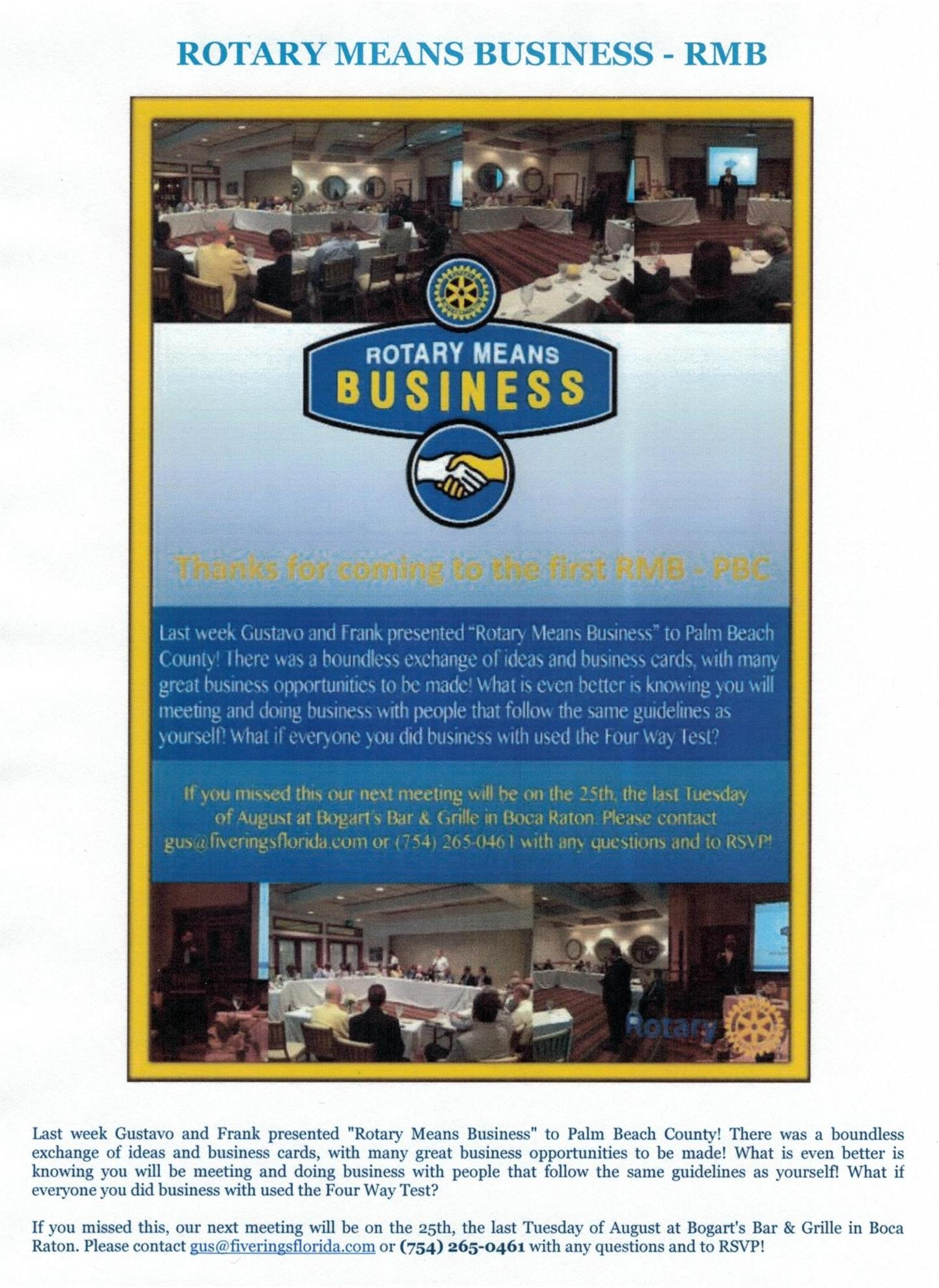 The Rotary Club of Boca Raton Weekly Newsletter August 5th, 2015 ...