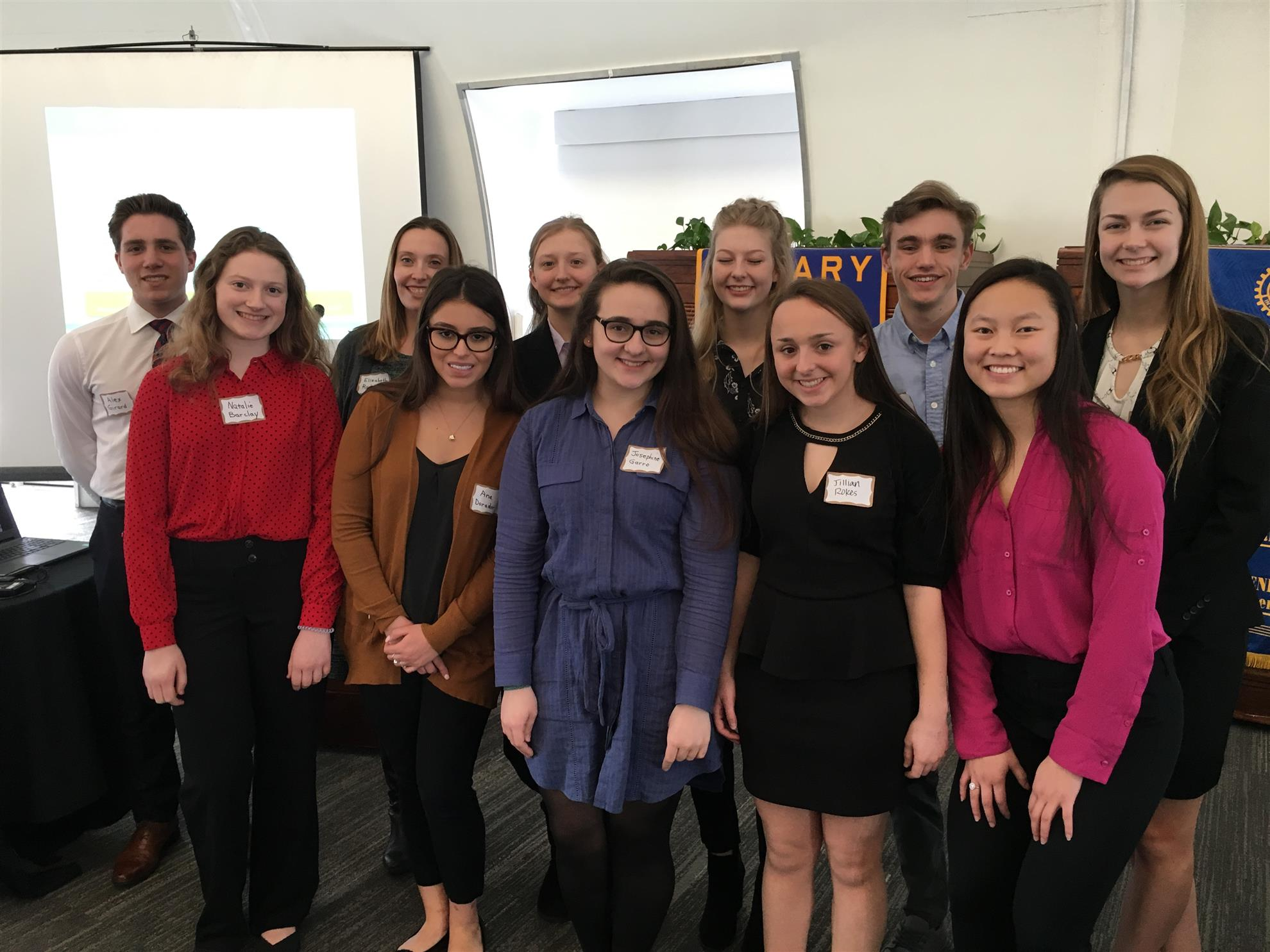 The Future Business Leaders of America from Skutt Catholic High School  visited Rotary, namely: Ana Dorador, Katie Belfiore, Caleb Sudbeck, Andi  Sims, ...