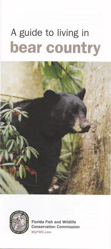 A Guide to living in bear country brochure