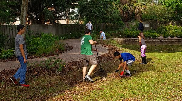 A Family Affair At Saturday S Butterfly Garden Cleanup Rotary
