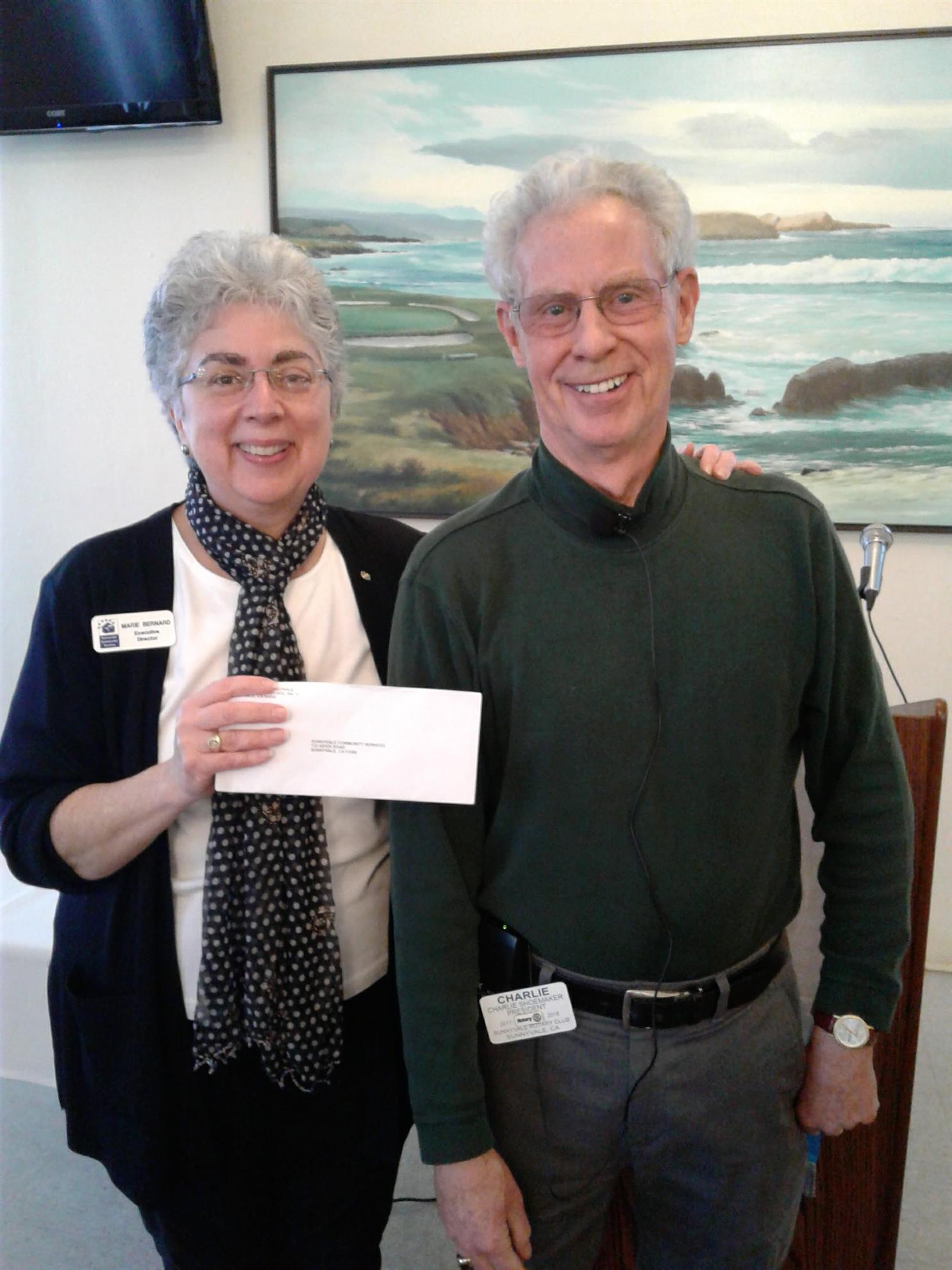 Rotary donates $30,000 to Sunnyvale Community Services